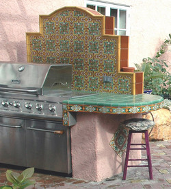 BBQ with counter-top