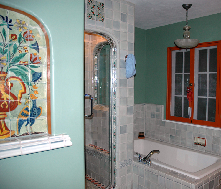 W Bath Touch of Gray Shower ,Mural.jpg