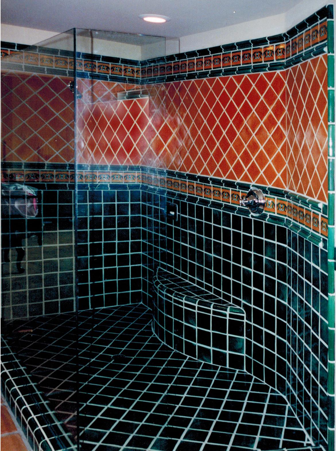 Bath 8b 4 x 4 Emerald, Caramel, Fluer di