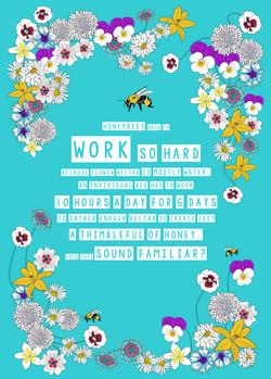 honeybees work hard