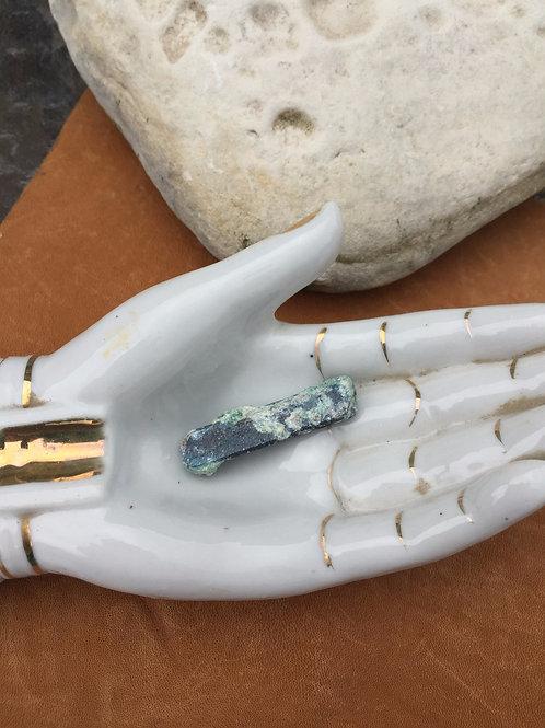 indigo kyanite in fuchsite blade/crystal