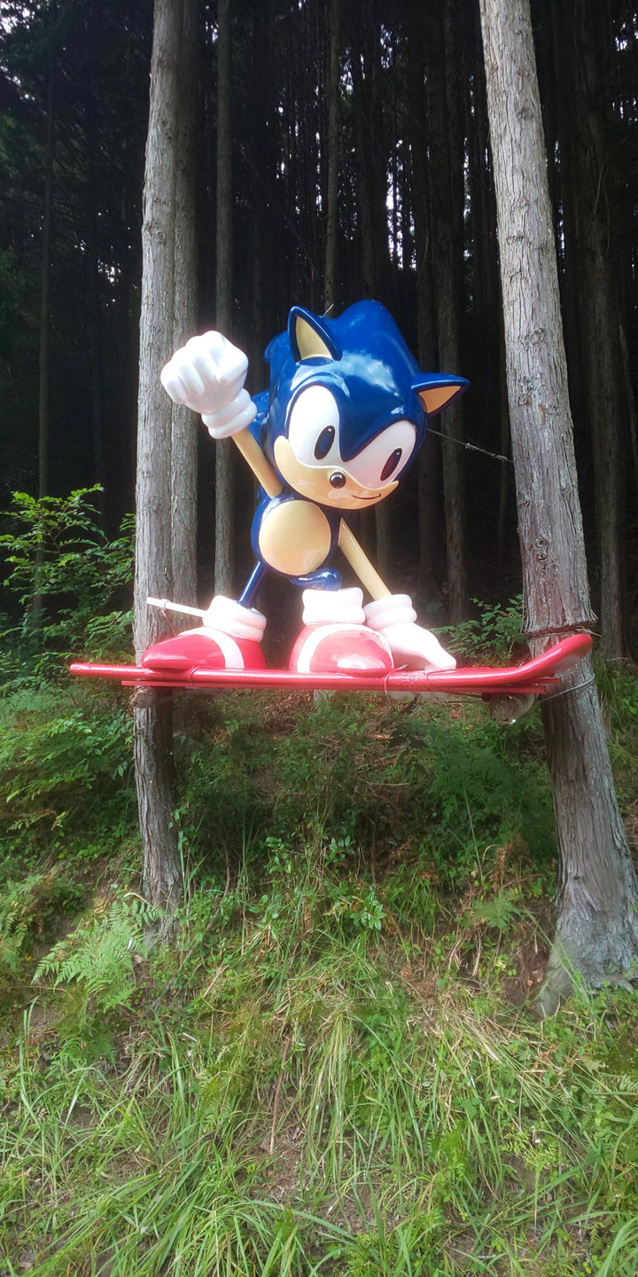 The Sonic The Hedgehog Statue in Japan Has Been Fully Restored!