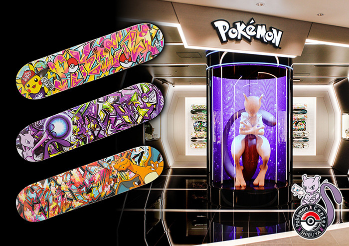 Pokemon Center Shibuya Limited! Getting Graffiti Art Skateboard Decks!
