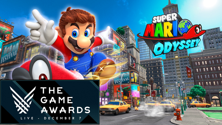 Super Mario Odyssey Won Game Awards 2017 For Best Family Game!