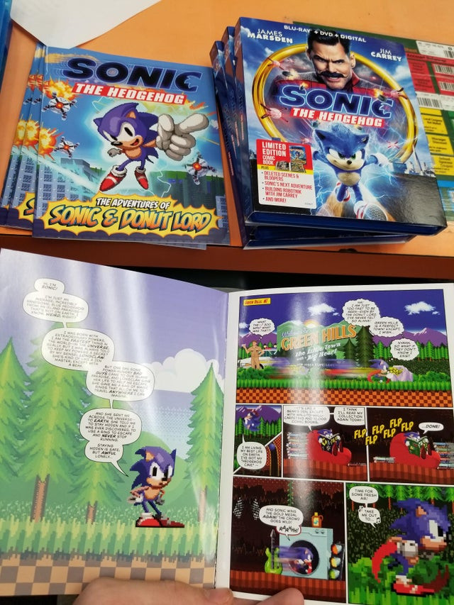 Sonic The Hedgehog Movie Blu-ray Comes with a Special 16-bit Comic Bonus!