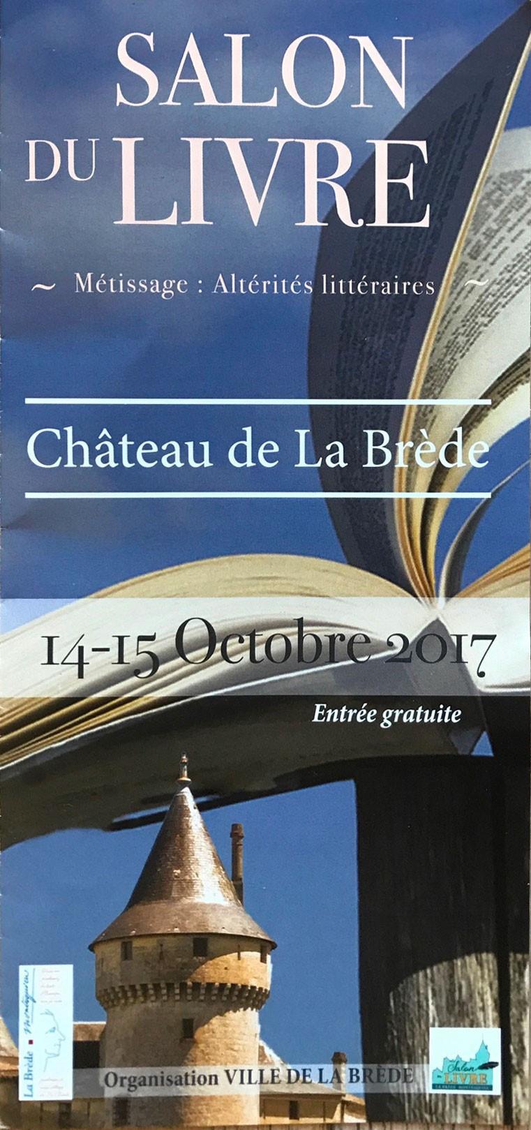 Expo les 14 et 15 octobre 2017 au salon du livre de La Brede. Venez nombreux découvrir ce lieu formidable ainsi que mon travail!