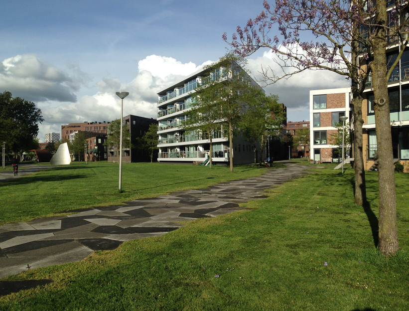 Carfree neighborhood in Amsterdam