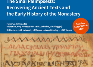 Lecture by Father Justin on Sinai's palimpsests