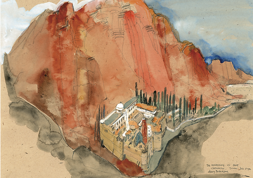 'The Monastery of Saint Catherine, Sinai' greeting card