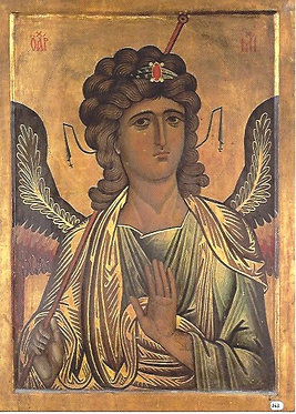 'The Archangel Michael' postcard