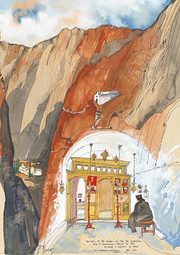 'The Chapel of the Mother of God Economisa at Saint Catherine's' greeting card