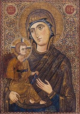'Icon with the Virgin Hodegetria Dexiokratousa' greeting card