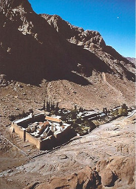 'The Monastery of St Catherine' postcard