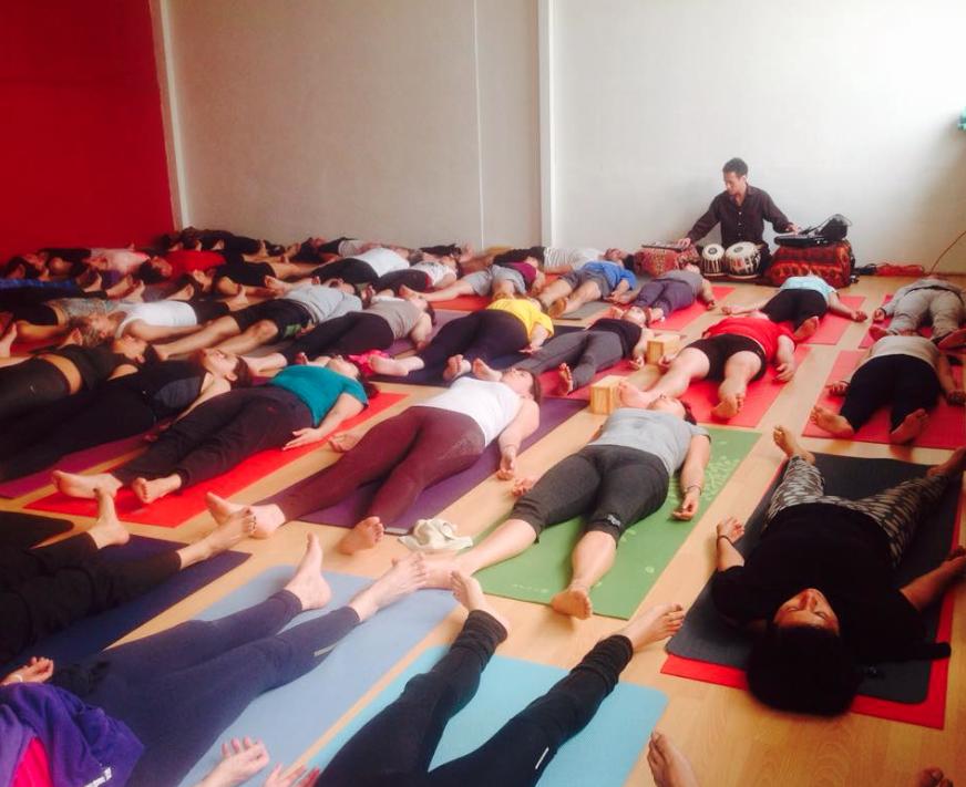 Con Djaña Dakini en Yoga Espacio