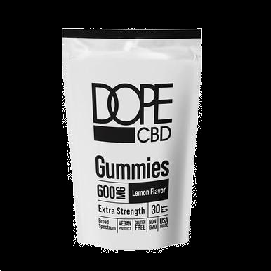 Extra Strength Lemon Gummies - 600mg