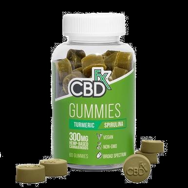 Broad Spectrum Gummies Turmeric Spirulina - 5mg