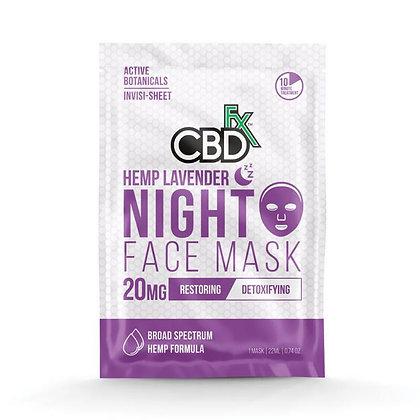 Face Mask Lavender Night Mask - 20mg