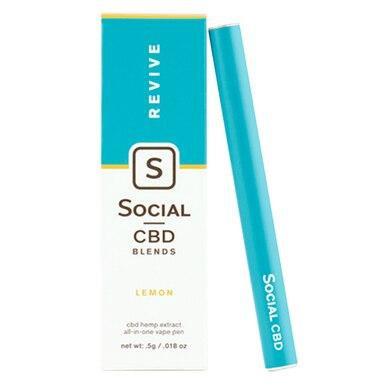 Social - CBD Vape - Revive Lemon - 250mg