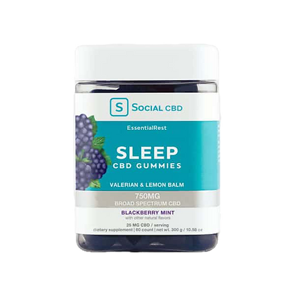 Sleep Broad Spectrum Blackberry Mint Gummies - 750mg
