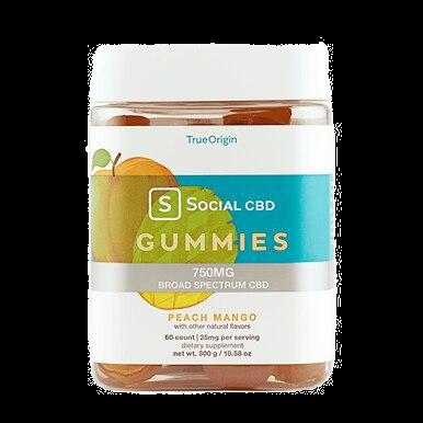 Broad Spectrum Peach Mango Gummies - 12.5mg
