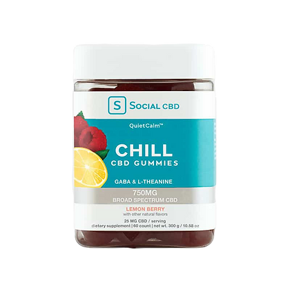 Chill Broad Spectrum Lemon Berry Gummies - 750mg