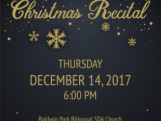 Please Join us at our Christmas Recital!