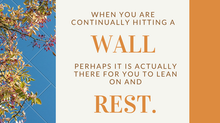 Have you been hitting a wall lately?