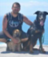 André LALISSE et ses chien - le Président