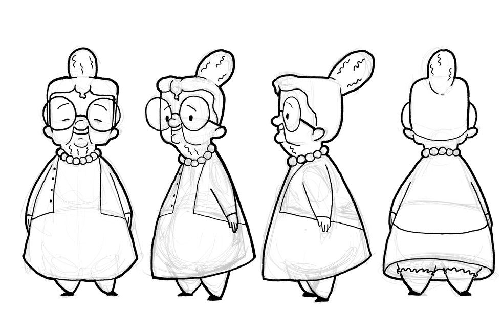Character development for animated short.