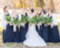Wedding bridal party professional photography