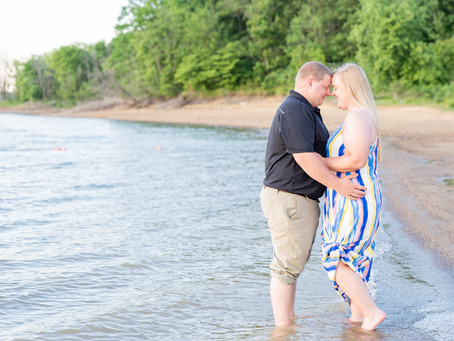 Taryn + Zach | A Lovely Lakeside Engagement Session