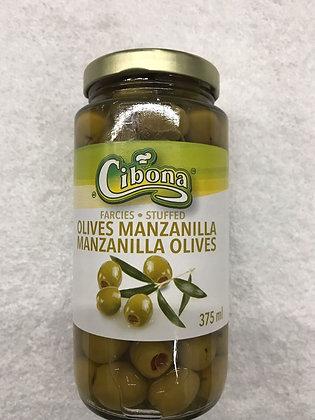 CIBONA OLIVES MANZANILLA 375ML