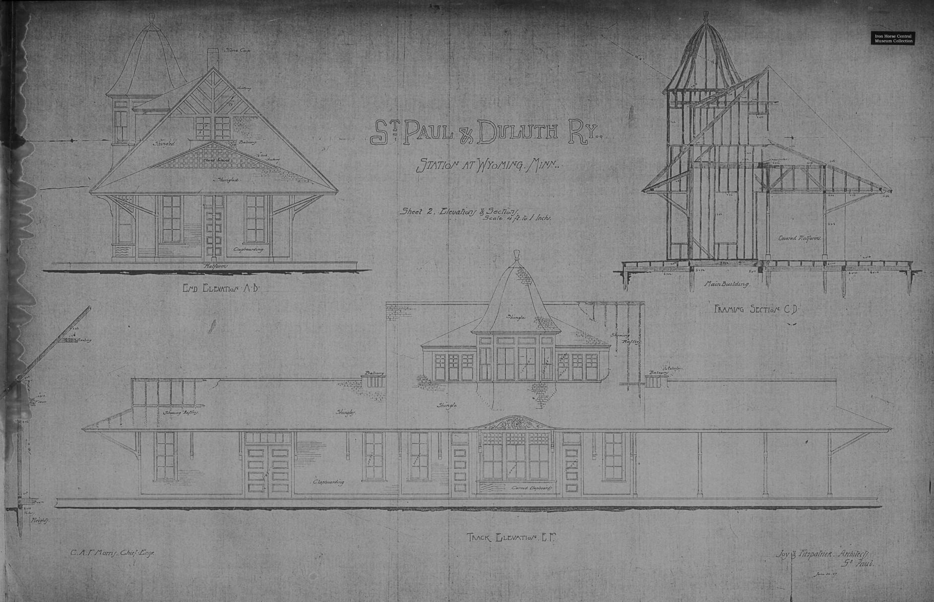 Wyoming Depot Blueprints