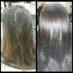 Акция на окрашивание волос Lebel? фото работы до и после