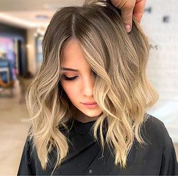 Окрашивание Шатуш фото-пример на русые волосы