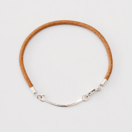 Single Leather Fine Happiness Bracelet