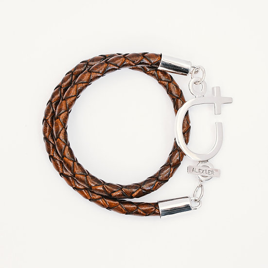 Chunky Courage Leather Bracelet