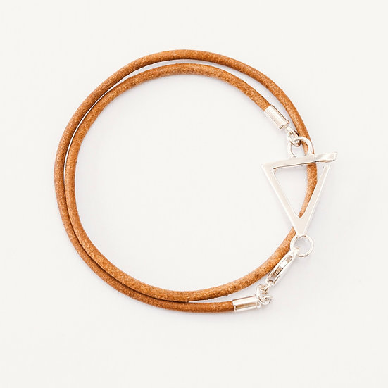 Double Leather Fine Love Bracelet