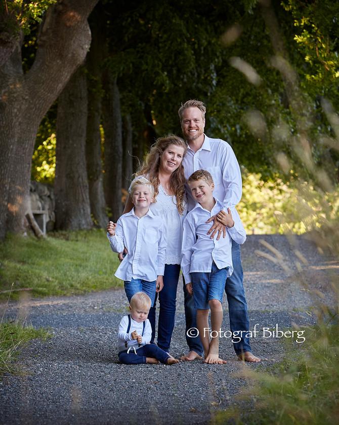 Familiefotografering Galleri F15 på Jæløya