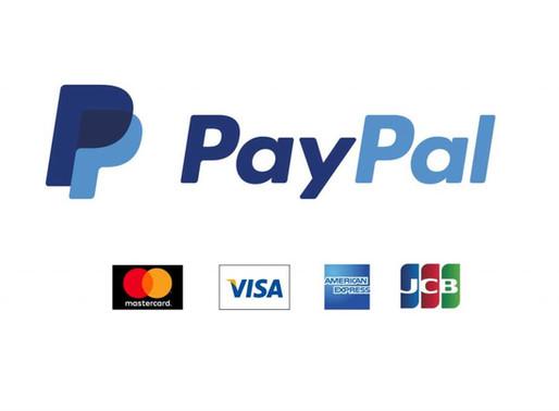 PayPalでのお支払い再開しました。