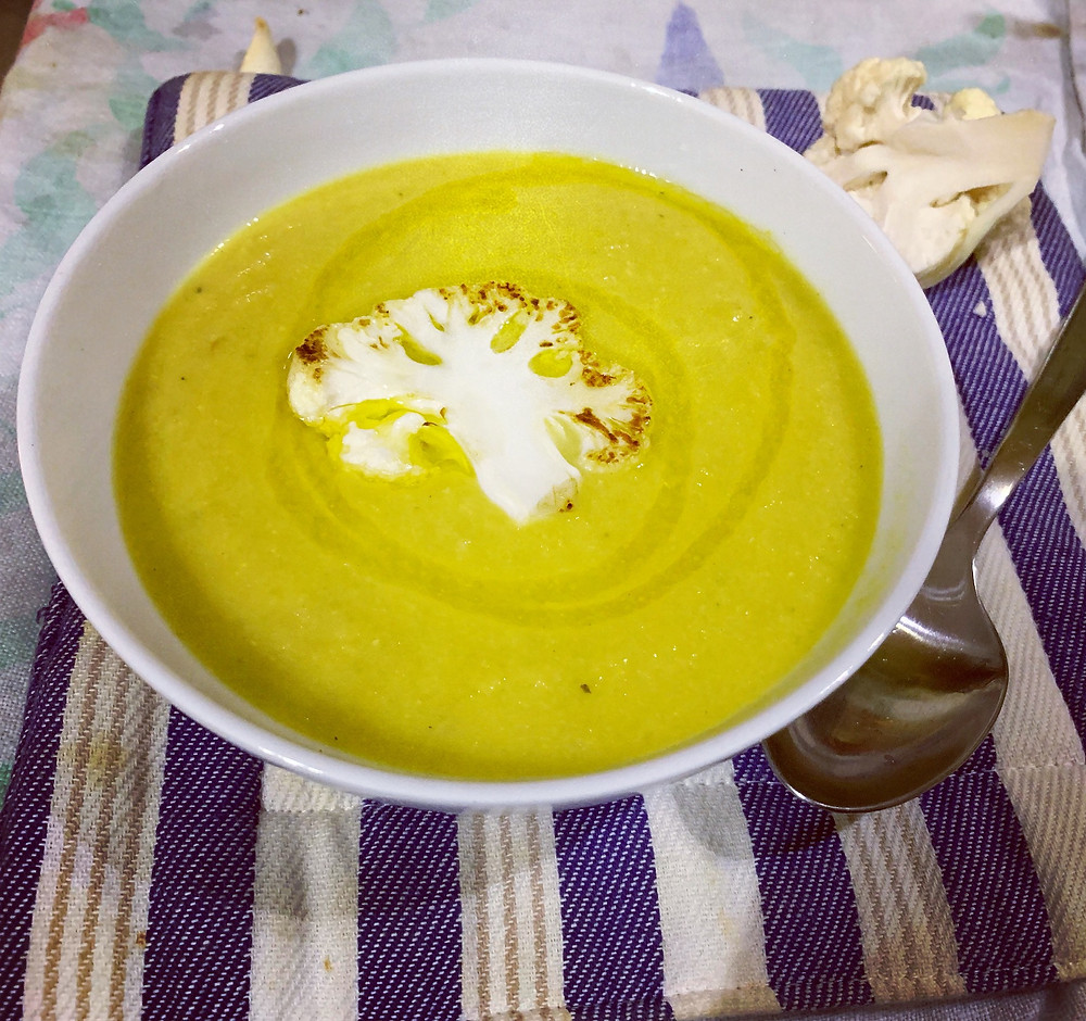 spiced cauliflower soup @boostrapcook