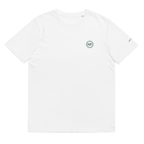 Organic White Tee Classic  - Pastel Green patch
