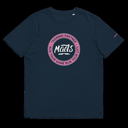 Organic Navy Tee - Pink Patch