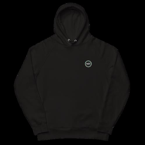 Organic Black Hood Classic - Pastel Green Patch