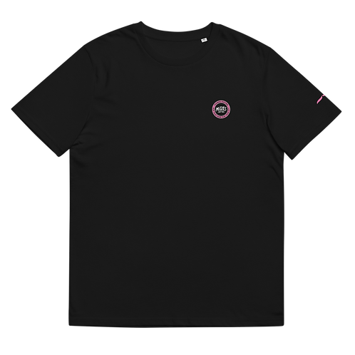 Organic Black Tee Classic - Pink Patch