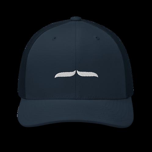 Trucker Cap White 3D Signature - Navy