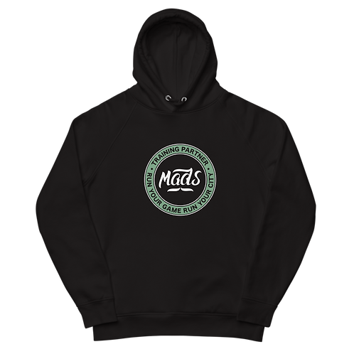 Organic Black Hood - Pastel Green Patch
