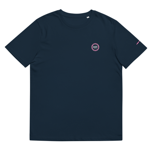 Organic Navy Tee Classic - Pink Patch