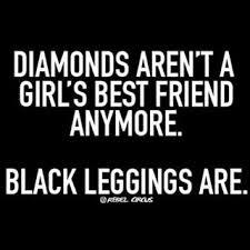 ZYIA - Black Legging Quote