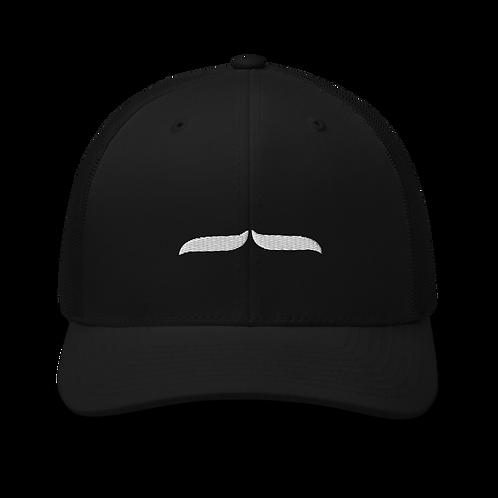 Trucker Cap White 3D Signature - Black